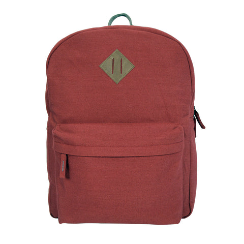 Maroon Canvas Backpack