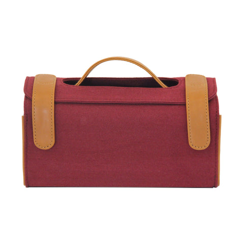 Maroon Canvas Travel Kit