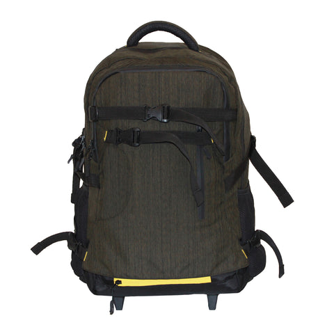 Military Green Flyknit Backpack with Trolley