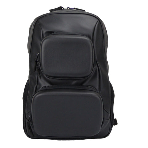 Moulded Faux Leather Laptop Backpack
