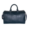 Navy Blue Faux Leather Weekender