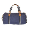 Navy Cotton Canvas Weekender