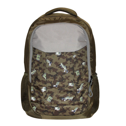 Olive Green Spacious School Backpack