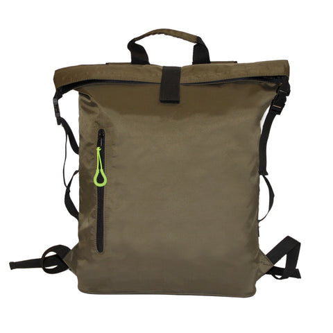 Olive Roll On Backpack
