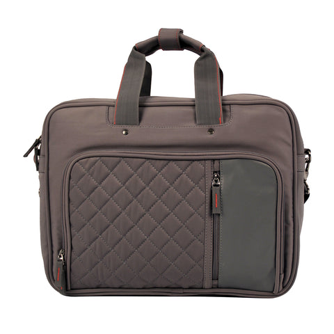 Quilted Grey Messenger