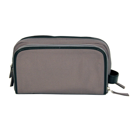 Grey - Black Toiletry Bag