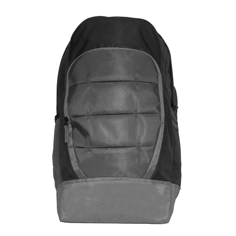 Unisex Grey & Black Backpack