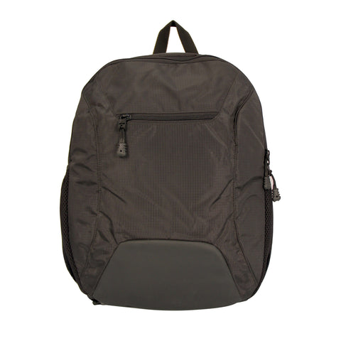 Black Solid Backpack