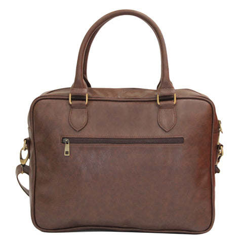 "15"" Brown Laptop Messenger"