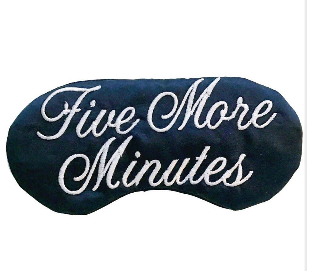 Sleep Mask - Five More Minutes