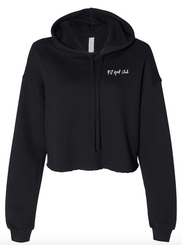 Fit Girl Club Cropped Hoodie