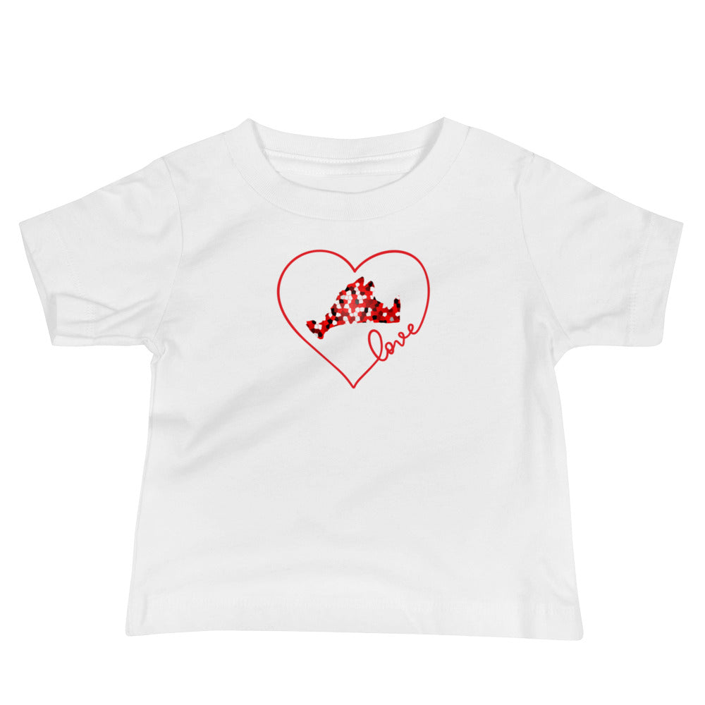 Love Red Pixels Baby Short Sleeve Tee