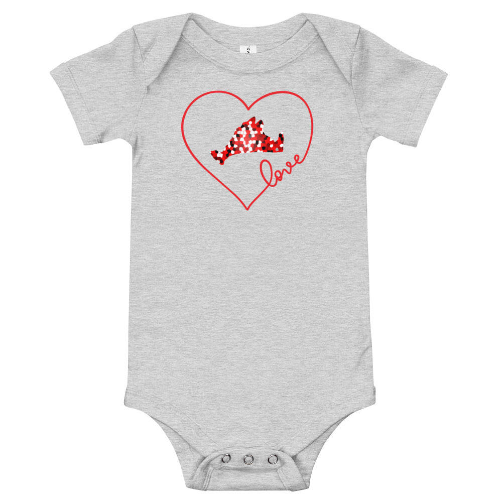 Love Red Pixels Onesie