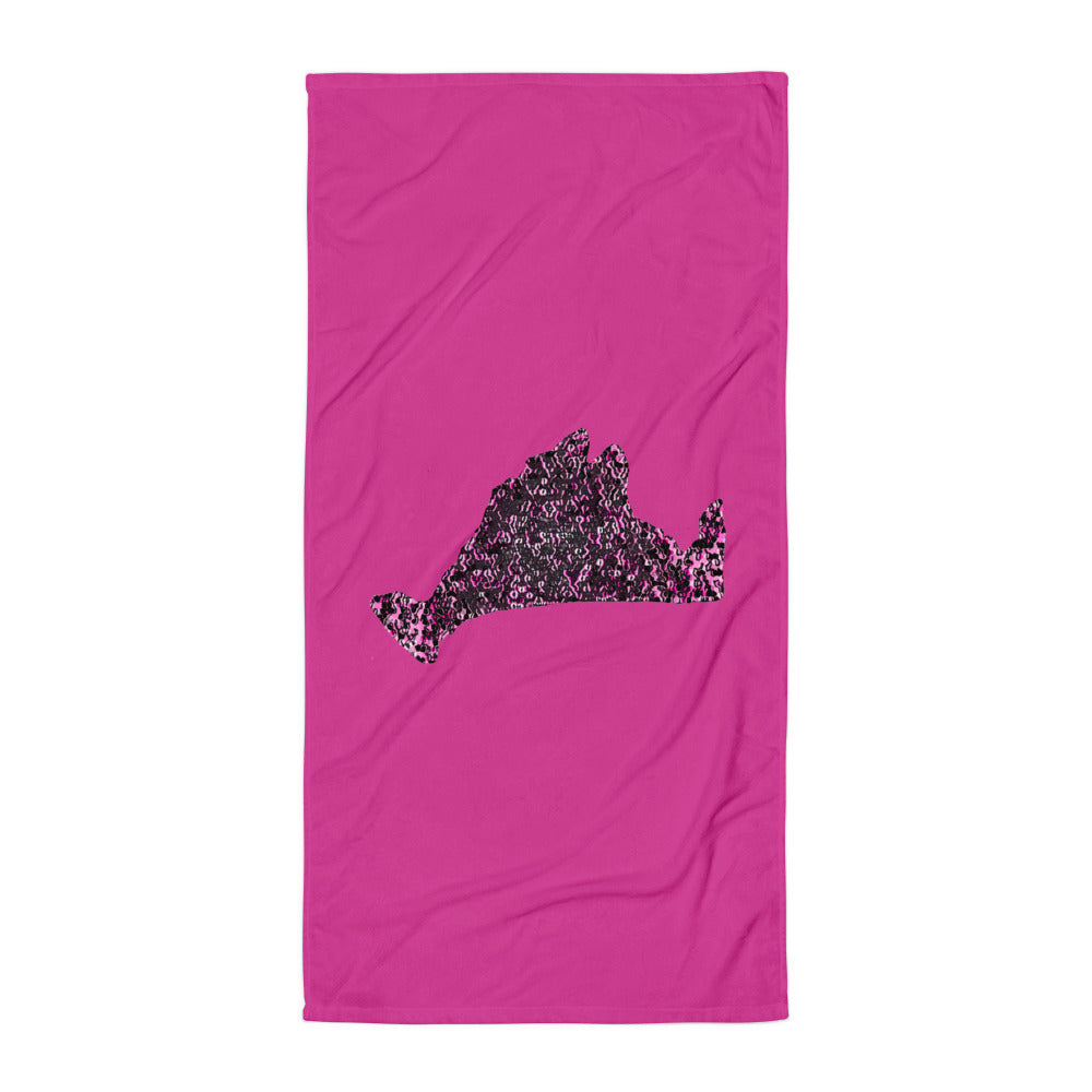 Limited Edition Towel-Pink Noir