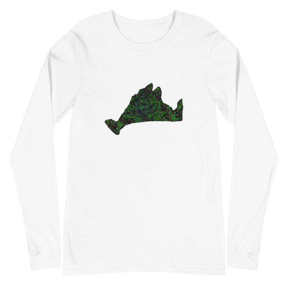 Long Sleeve-Kaleidoscope Green