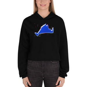 Cropped Hoodie Sweatshirt-Blue Skies