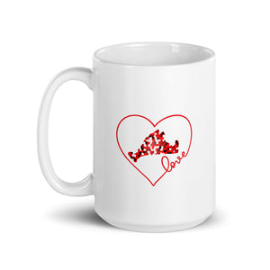Love Red Pixels-Mug