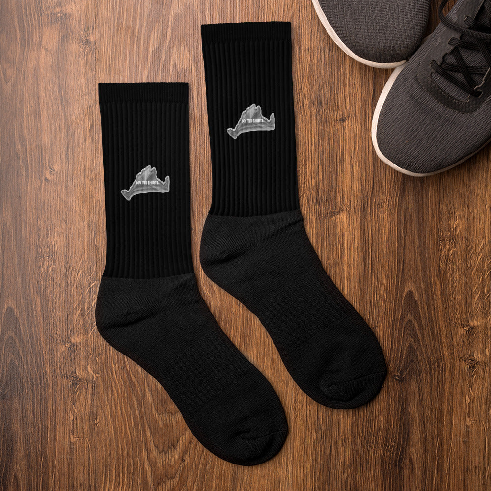 Monochrome Black Socks