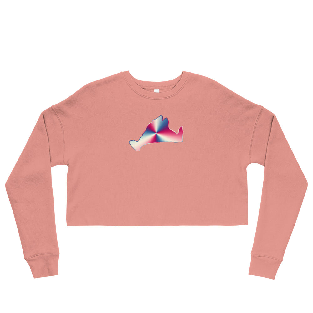 Cropped Sweatshirt-Red, White & Blue