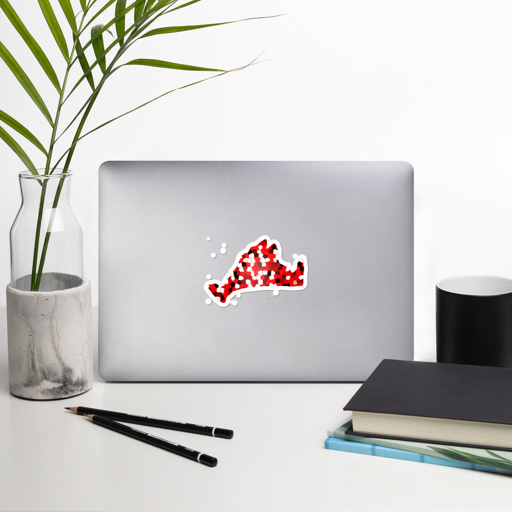 Sticker-(Dotted) Red Pixels