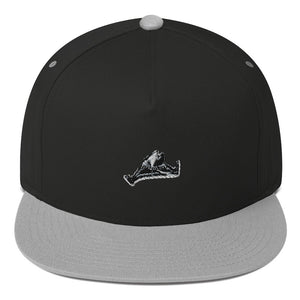Monochrome-Flat Bill Cap-Embroidery