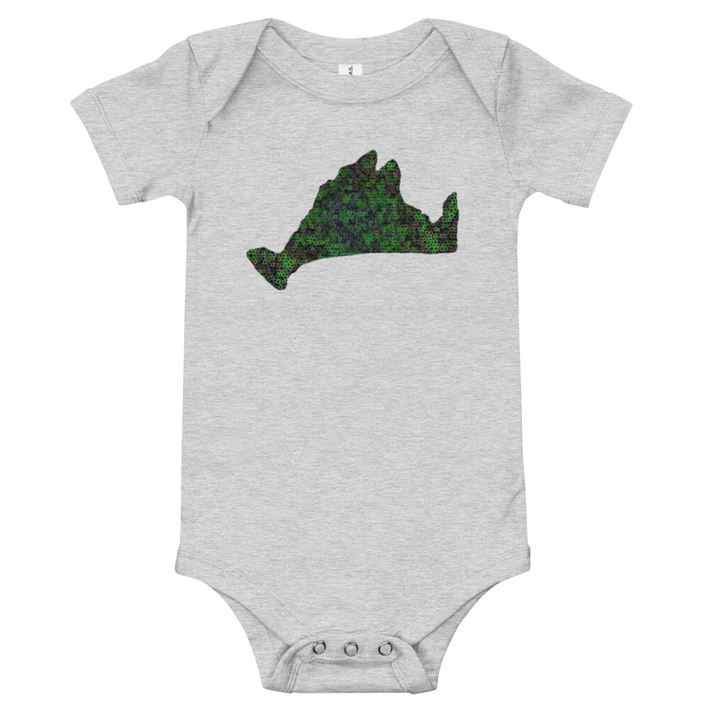 Short Sleeve Onsie-Kaleidoscope Green
