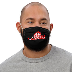 Red Pixels Premium face mask