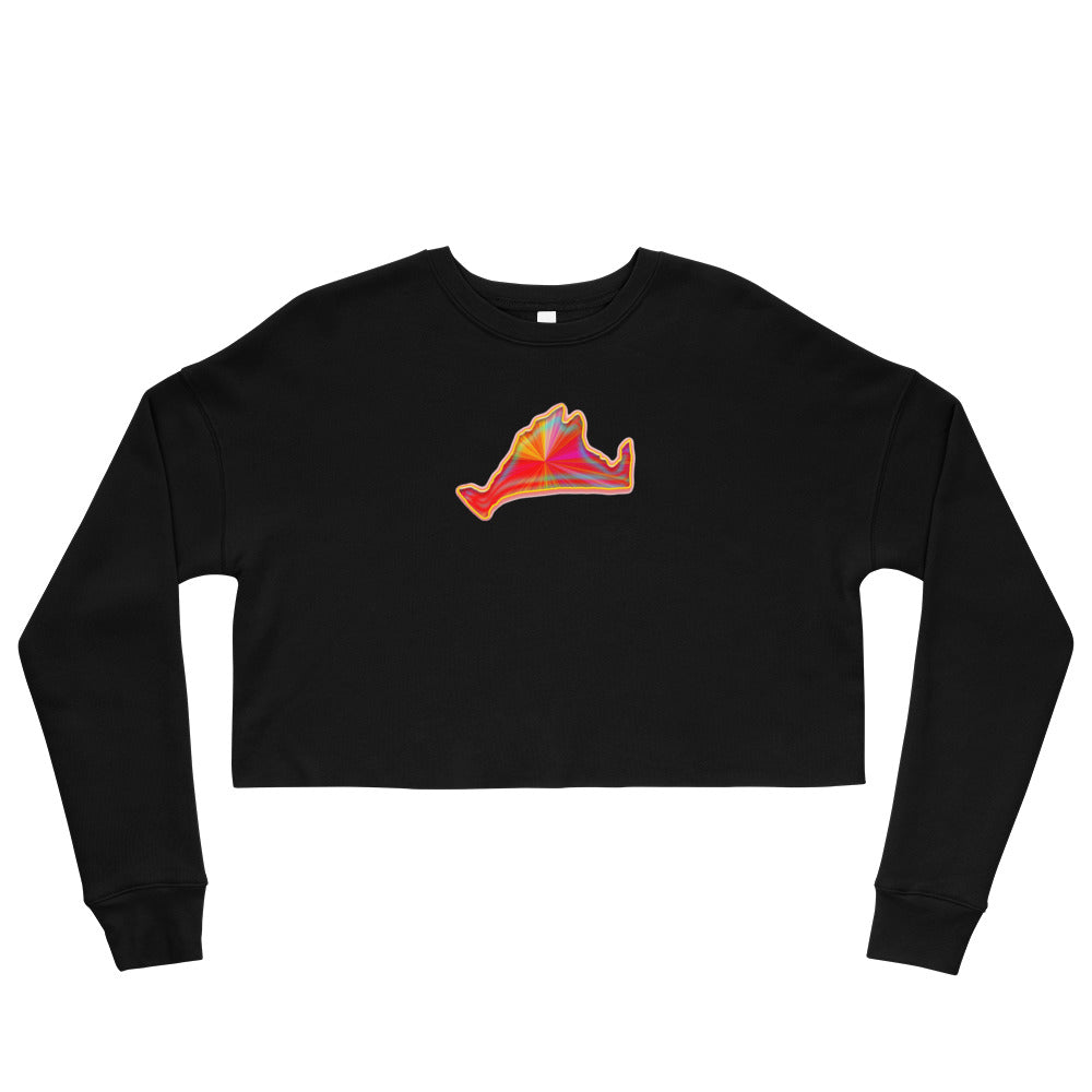 Cropped Sweatshirt-Golden Sunburst