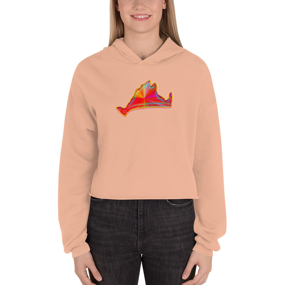 Cropped Hoodie Sweatshirt-Golden Sunburst-First Edition 2019