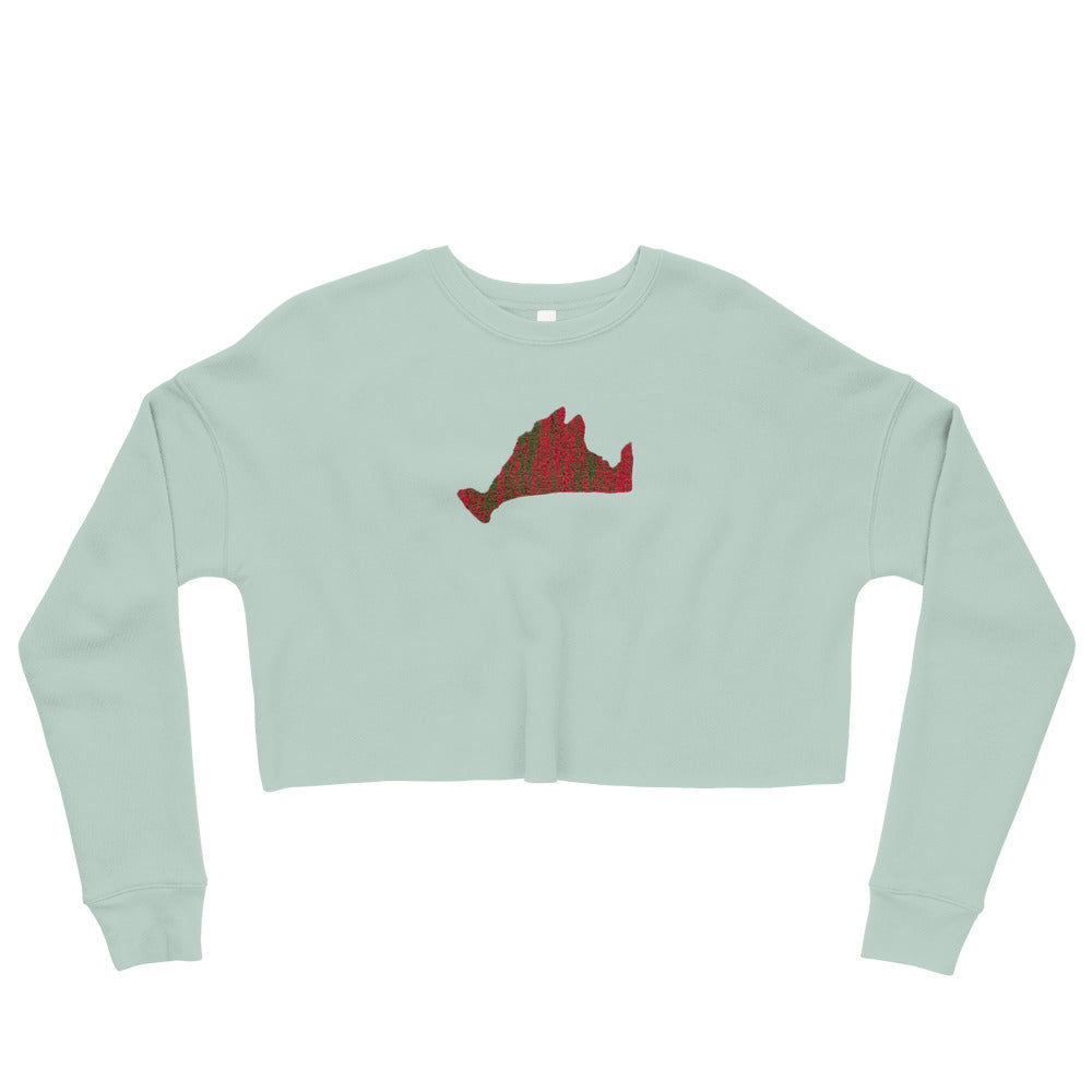 Cropped Sweatshirt-Scarlett Green