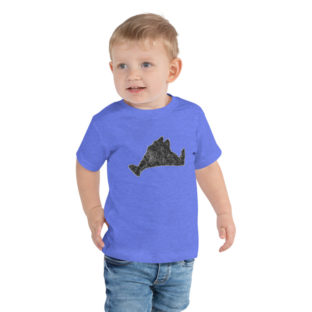 Toddler Short Sleeve Tee Shirt-Onyx Swirl