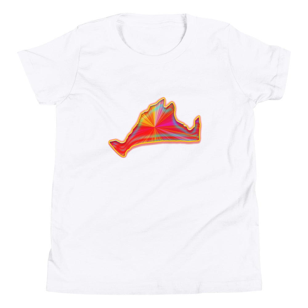 Kids Short Sleeve Tee Shirt-Golden Sunburst