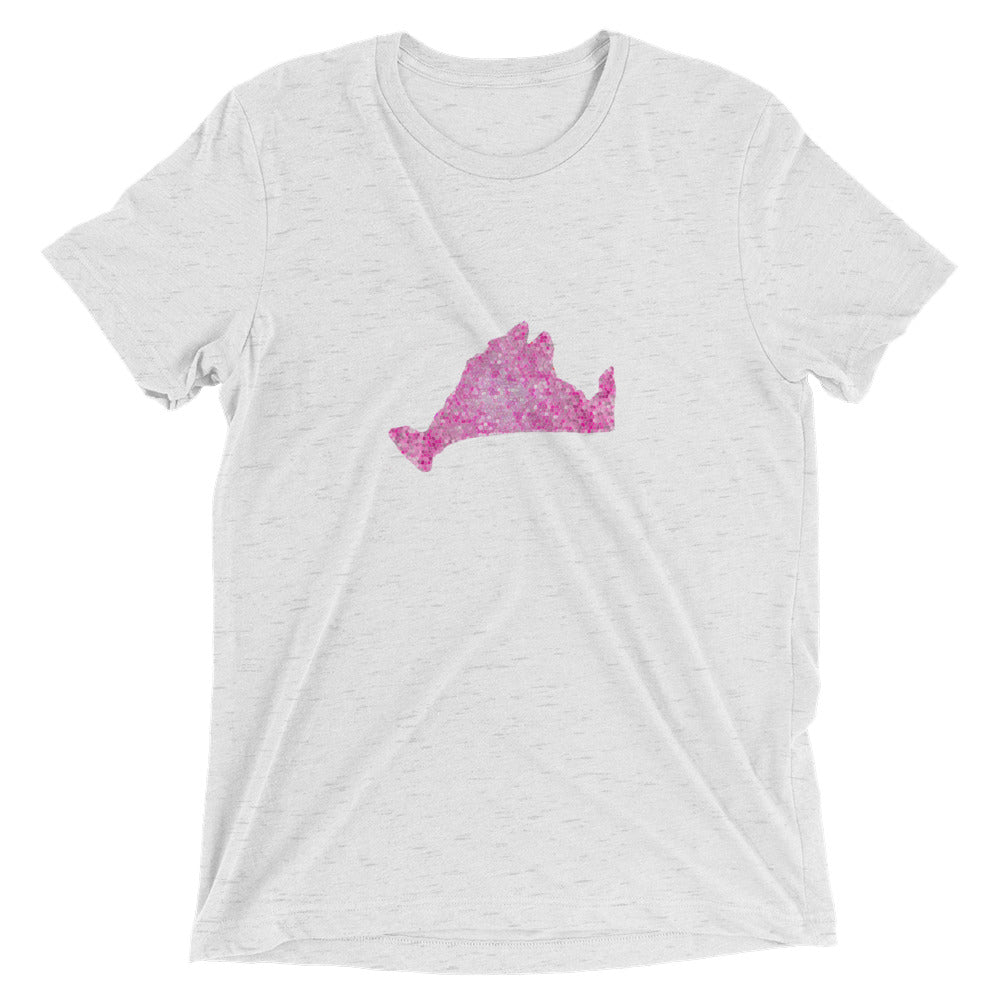 Short sleeve fitted Tee Shirt-Pink Pixels