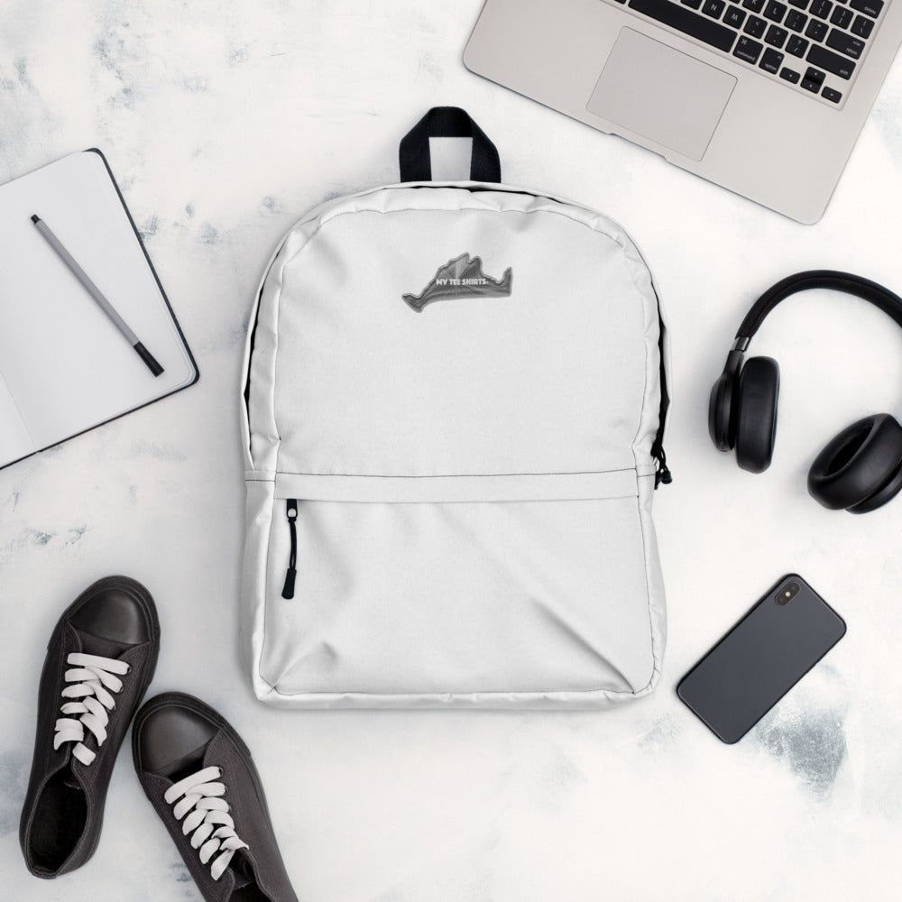 MonoChrome White Backpack