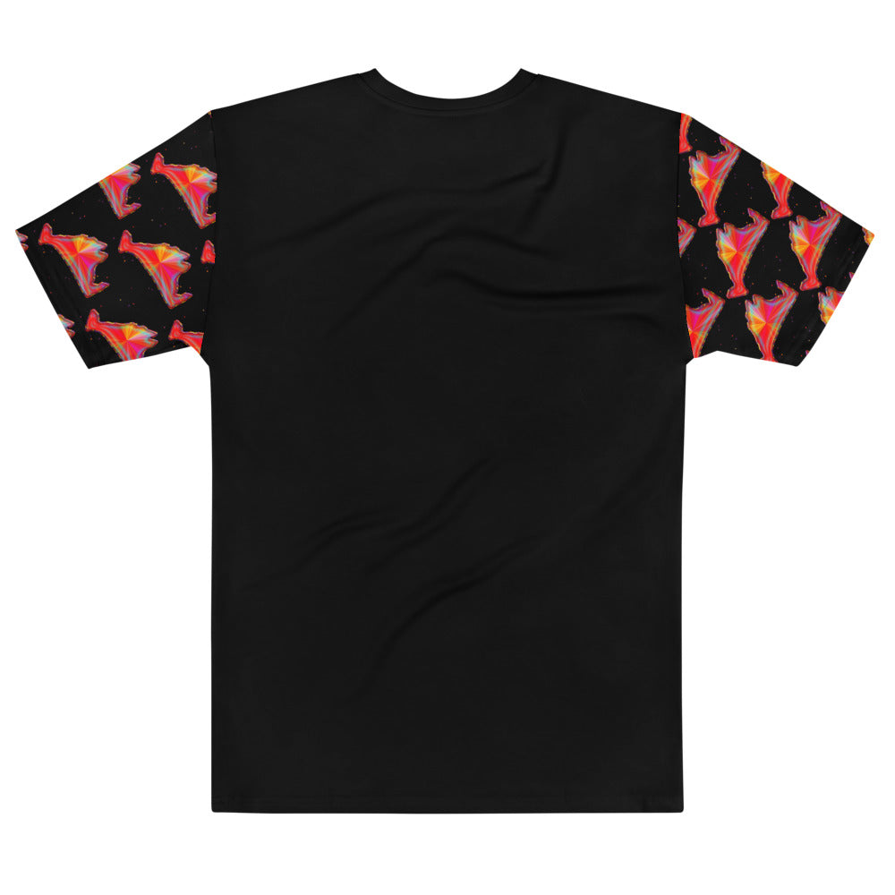 "Short Sleeve Tee Shirt-""All Over"" the Rainbow Sunburst"