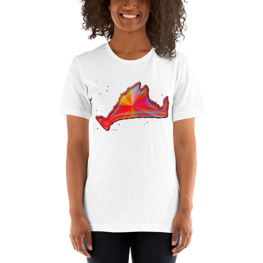 Short Sleeve Tee Shirt-Rainbow Sunburst