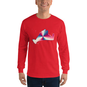 Long Sleeve-Red, White & Blue