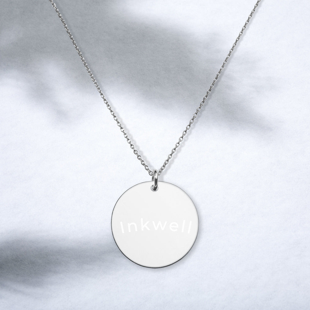 Inkwell Silver Disc Necklace
