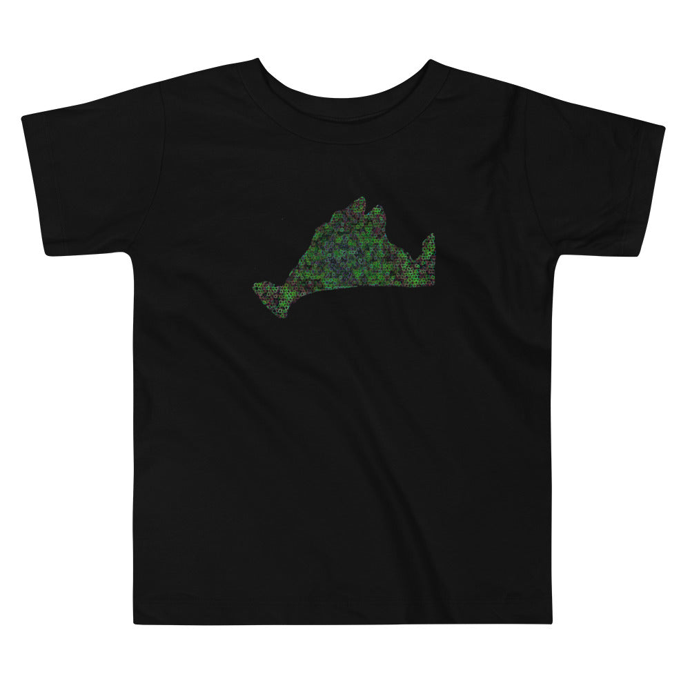 Toddler Short Sleeve Tee Shirt-Kaleidoscope Green