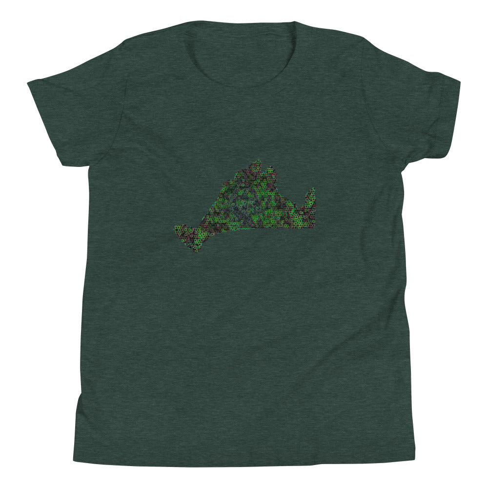 Kids Short Sleeve Tee Shirt-Kaleidoscope Green