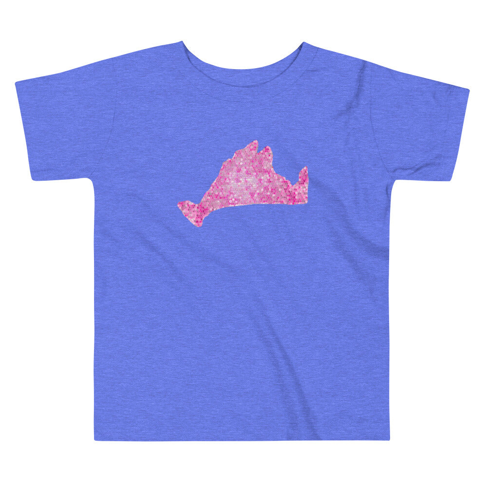 Toddler Short Sleeve Tee Shirt-Pink Pixels