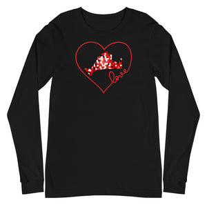 Long Sleeve-Love Red Pixels