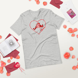 Short-Sleeve Tee Shirt-Love Red Pixels