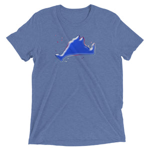 Short sleeve fitted Tee Shirt-Blue Skies