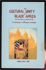 The Cultural Unity of Black Africa