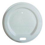 Vegware Compostable White Sip Lids 12oz to 16oz  x 25 (4438152478808)