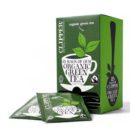 Clipper Organic Pure Green Tagged & Enveloped x 25 (4438111879256)