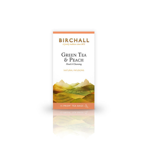 Birchall Green Tea & Peach Prism x 15 (4438110666840)