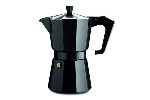 Moka Pot. Black. 6 Cup.