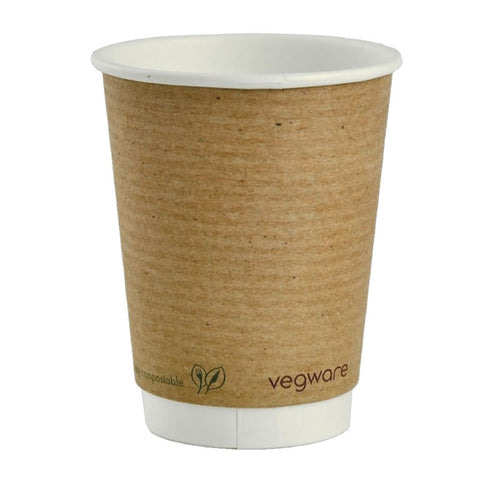Vegware Compostable Double Walled Takeaway Cups 12oz (4438152314968)